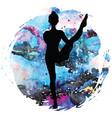 women silhouette bird of paradise yoga pose vector image
