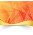 Bright orange folder with border template vector image