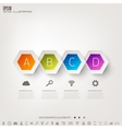 Cloud computing background with web icons Social vector image vector image