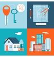 Retro Real Estate Symbols Private House vector image vector image