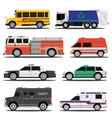 City service cars vector image