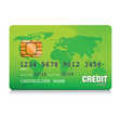 green credit card vector image vector image