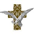 Dove Cross vector image