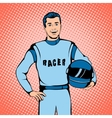 Racer concept comics style vector image