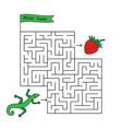 cartoon lizard maze game vector image