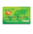 green credit card vector image