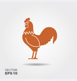 rooster cock abstract rooster logo vector image