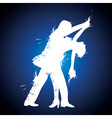 salsa couple dancer vector image