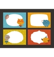 Set of cartoon animal borders vector image