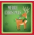Deer and bird cartoon of Christmas design vector image