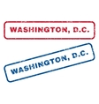 Washington DC Rubber Stamps vector image