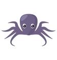 purple octopus sea life vector image