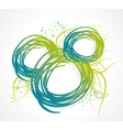 Abstract bubble from a ribbon with green grass vector image