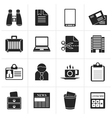 Black Business and office elements icons vector image