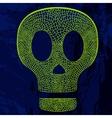 decorative skull on grunge background vector image