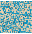 Seamless pattern with circles in retro colors vector image