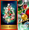 cosmic holiday fir tree vector image