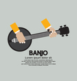 Flat Design Banjo Playing vector image