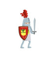 medieval amed knight character with shield and vector image