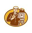 Photographer Vintage Camera Front Retro vector image