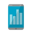 smartphone screen equalizer music vector image