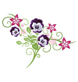 Pansy summer vector image vector image