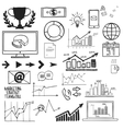 Business finanse hand draw doodle elements graph vector image