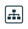 hierarchy icon Rounded squares button vector image