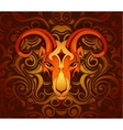 Goat as symbol for year 2027 vector image vector image