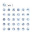 Round Service Icons vector image vector image