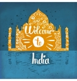 A poster on aged paper The trip to India An vector image