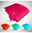 Color bubble speech vector image