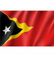 national flag of east timor vector image