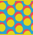 pop-art style seamless print yellow circles and vector image