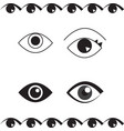 simple eye icon or logo isolated vector image