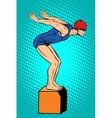Swimmer at the start water sports summer games vector image