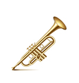 Trumpet isolated on white vector image