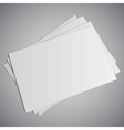 White Business Card vector image