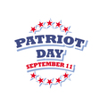 Patriot Day USA logo isolated on white background vector image