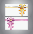 Envelope with ribbon set vector image vector image