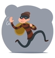 Thief Escapes with Loot Run Character Retro vector image