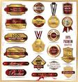 Luxury golden labels vector image