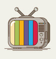 flat icon retro tv vector image
