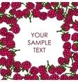 frame of raspberries vector image