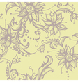 Seamless with decorative flower vector image vector image