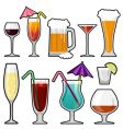 Alcohol glass vector image