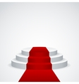 podium with red carpet vector image
