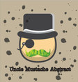 uncle mustache abstract vector image