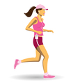 Woman jogging vector