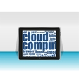Tablet pc social network and connected words on vector image vector image